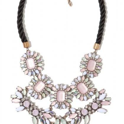 Pink Cluster Statement Necklace