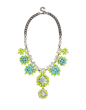 Vibrant Flower Statement Necklace