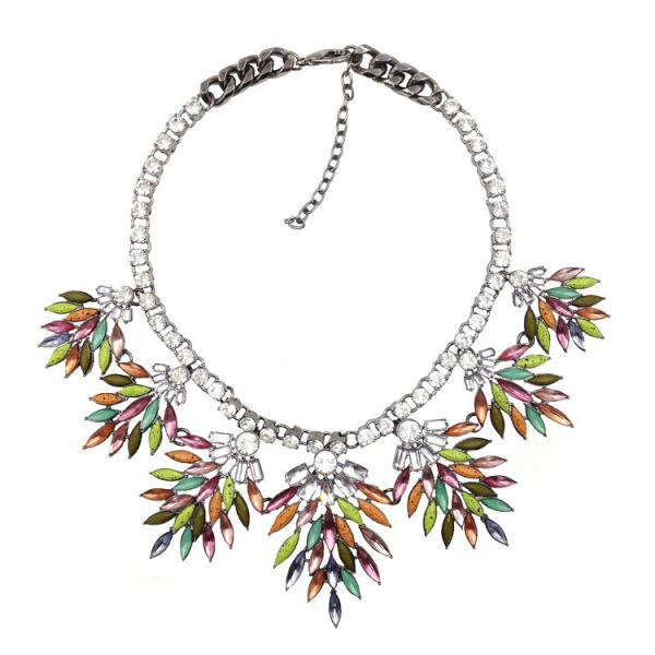Spiked Layered Statement Necklace