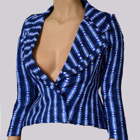 REDUCED!! Royal Blue Print Blazer
